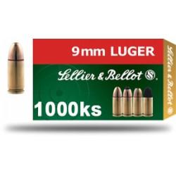 Střelivo 9 mm LUGER / 9 mm PARA / 9 × 19, karton 1000ks